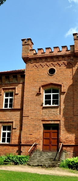 Wooden windows. Raudone Castle. Jurbarkas district, Lithuania
